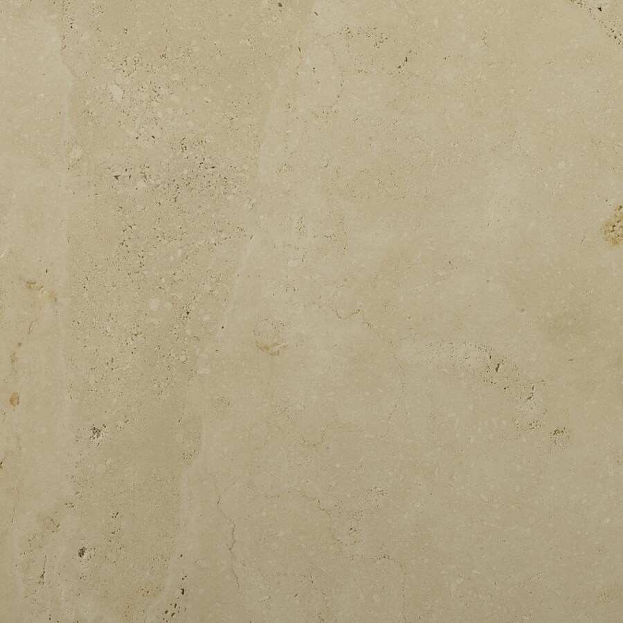 Emser 24-in x 24-in Ivory Classic Premium Filled and Honed Natural Travertine Floor Tile