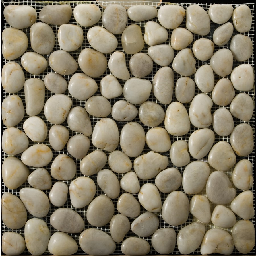 Emser 12-in x 12-in Cream Mosaic Indoor/Outdoor Natural Floor Tile