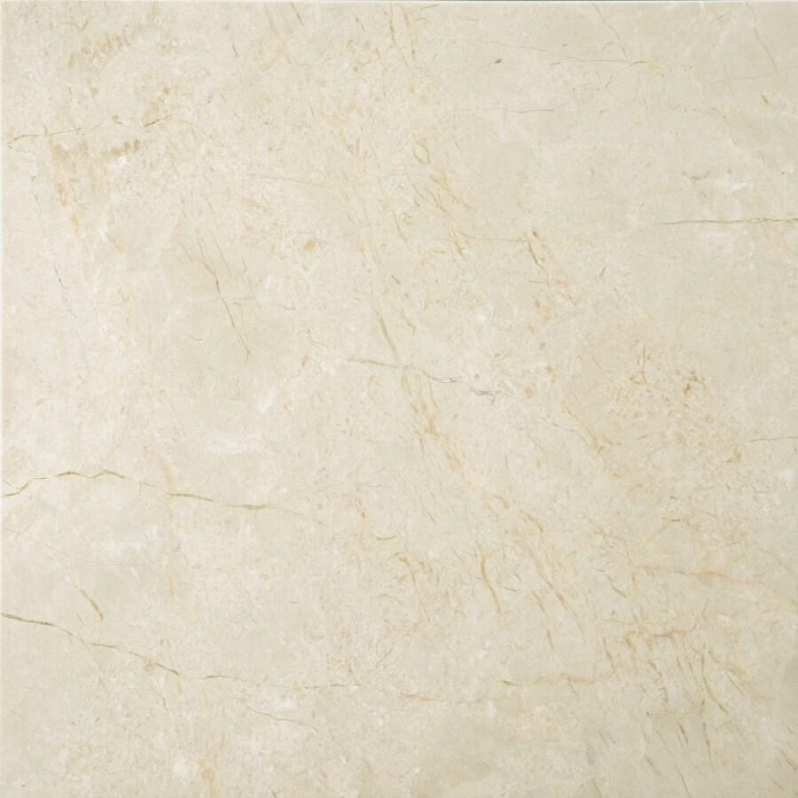 Emser 5-Pack 12-in x 12-in Cream Beige Natural Marble Floor Tile