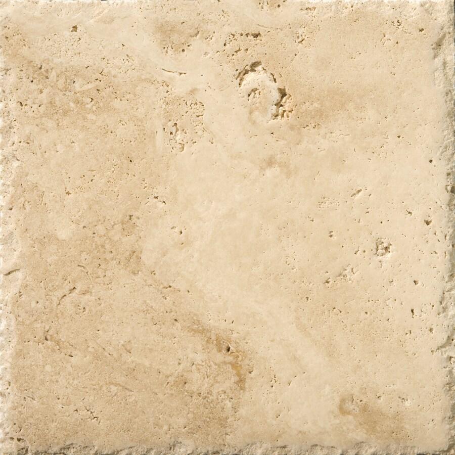 Shop emser 4 pack umbria savera travertine floor and wall for 16 floor tile