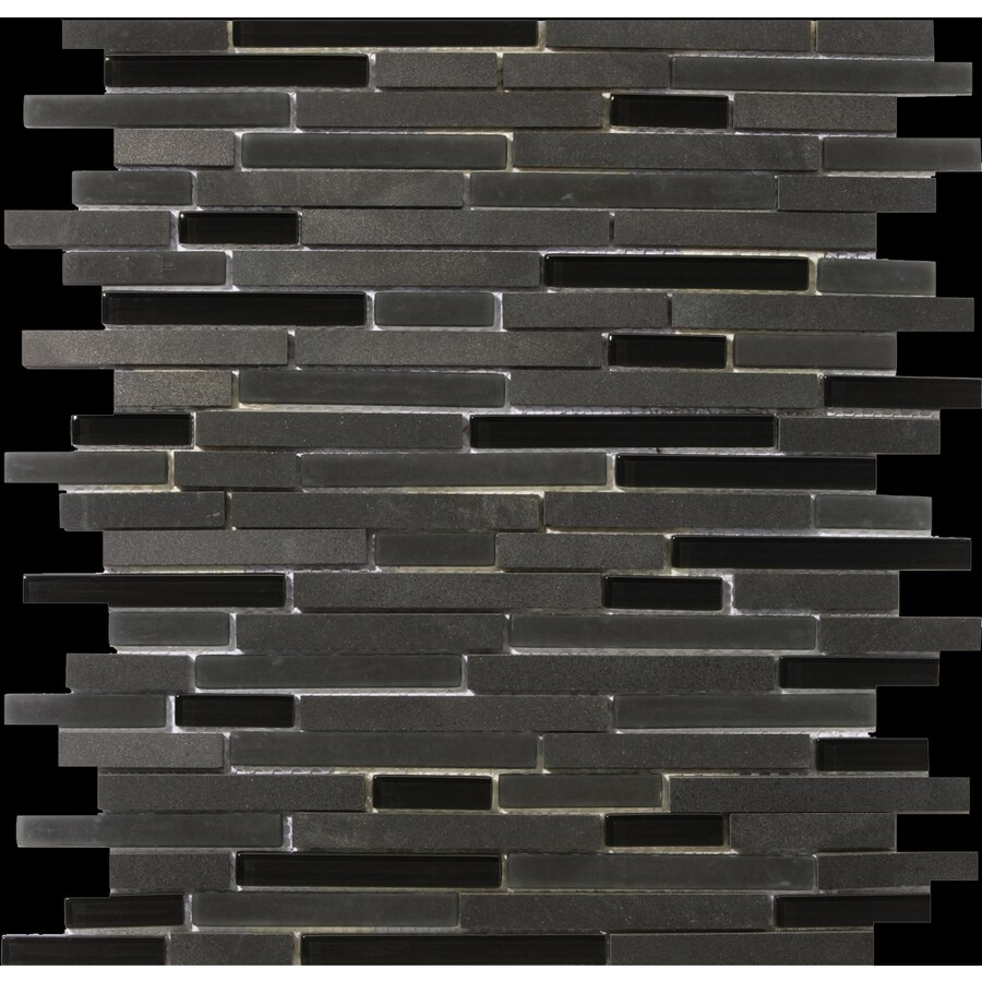 Emser Lucente Zanfirico Mixed Material Mosaic Wall Tile (Common: 12-in x 12-in; Actual: 13.14-in x 13.38-in)