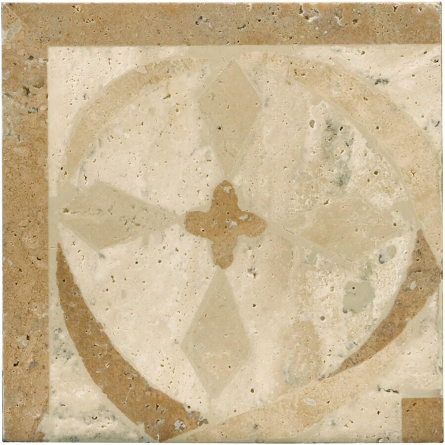 Emser 4-in x 4-in Waterjet Natural Travertine Floor Tile