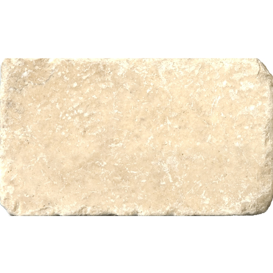Emser 80-Pack 3-in x 6-in Vino Tumbled Natural Travertine Wall and Floor Tile