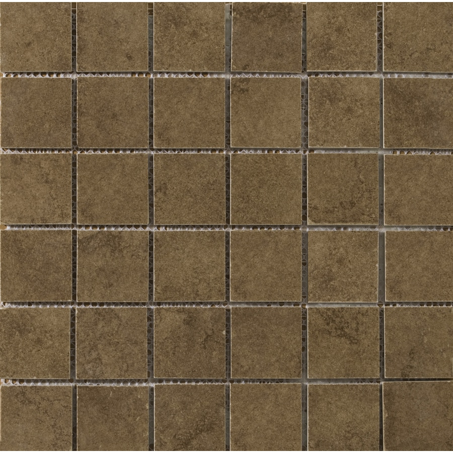 Emser Genoa Pinelli Uniform Squares Mosaic Porcelain Floor and Wall Tile (Common: 13-in x 13-in; Actual: 13-in x 13-in)