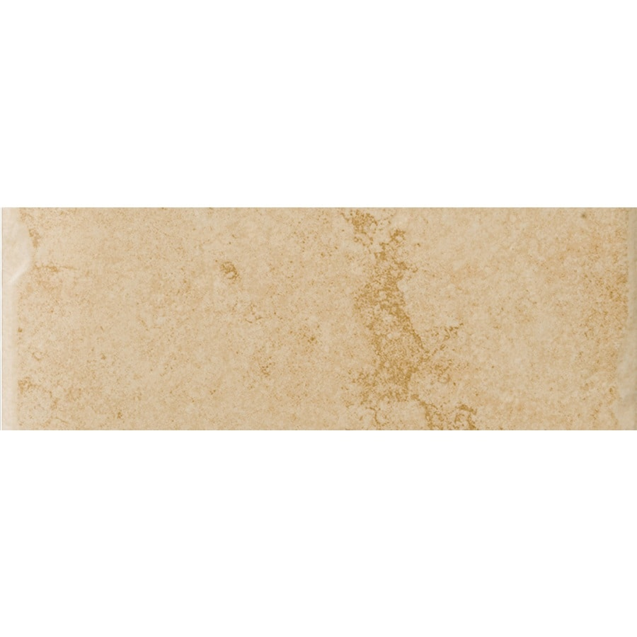 Emser Genoa Albergo Porcelain Bullnose Tile (Common: 3-in x 13-in; Actual: 3.17-in x 12.99-in)