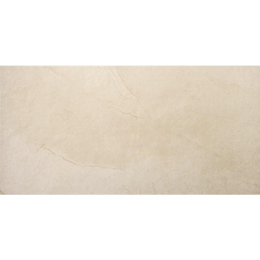 Emser St Moritz 6-Pack Cream Porcelain Floor and Wall Tile (Common: 12-in x 24-in; Actual: 11.75-in x 23.75-in)