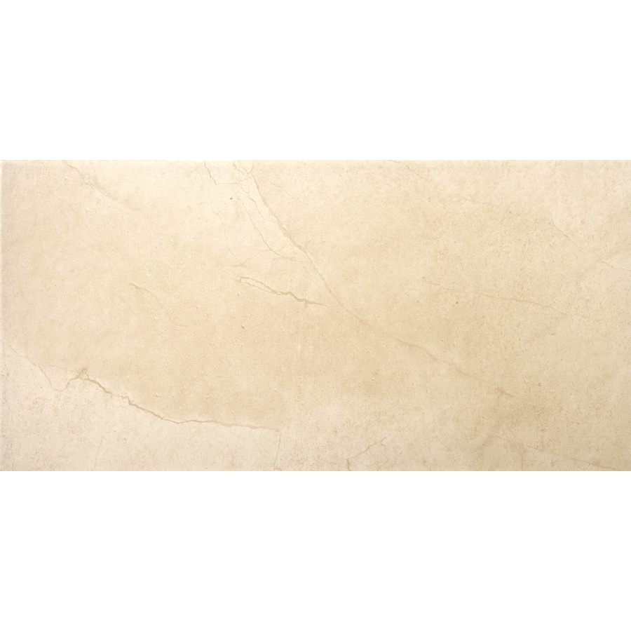 Emser St Moritz 6-Pack Ivory Porcelain Floor and Wall Tile (Common: 12-in x 24-in; Actual: 11.75-in x 23.75-in)
