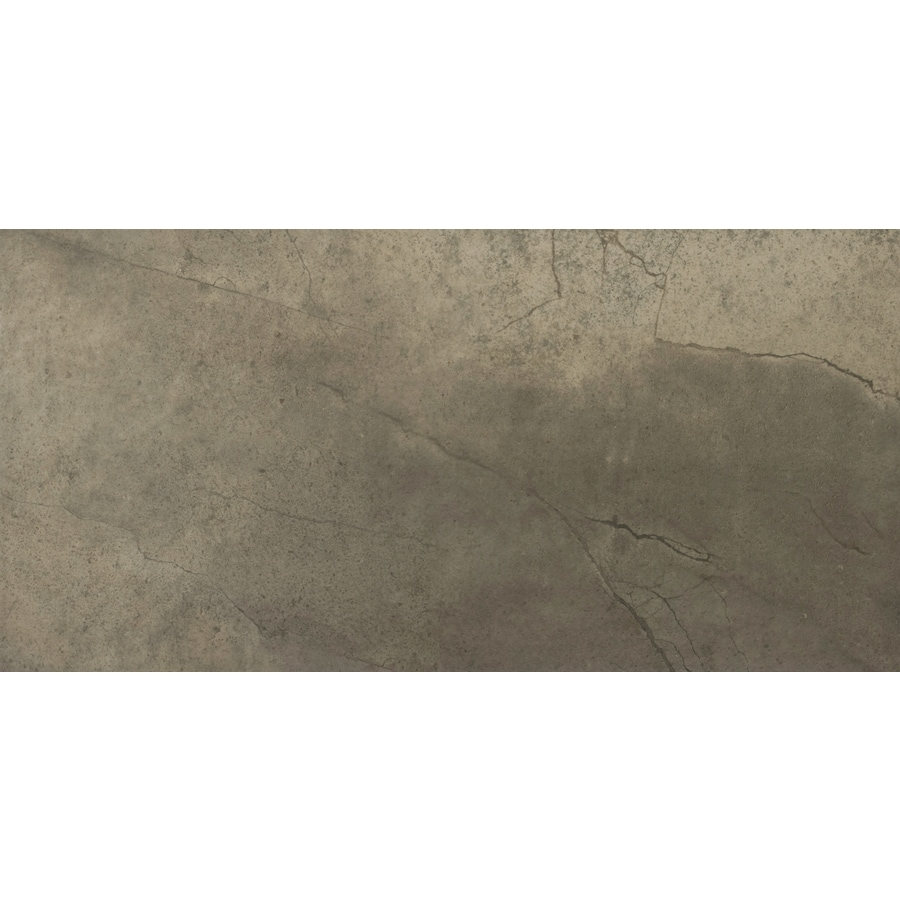 Emser St Moritz 6-Pack Olive Porcelain Floor and Wall Tile (Common: 12-in x 24-in; Actual: 11.75-in x 23.75-in)