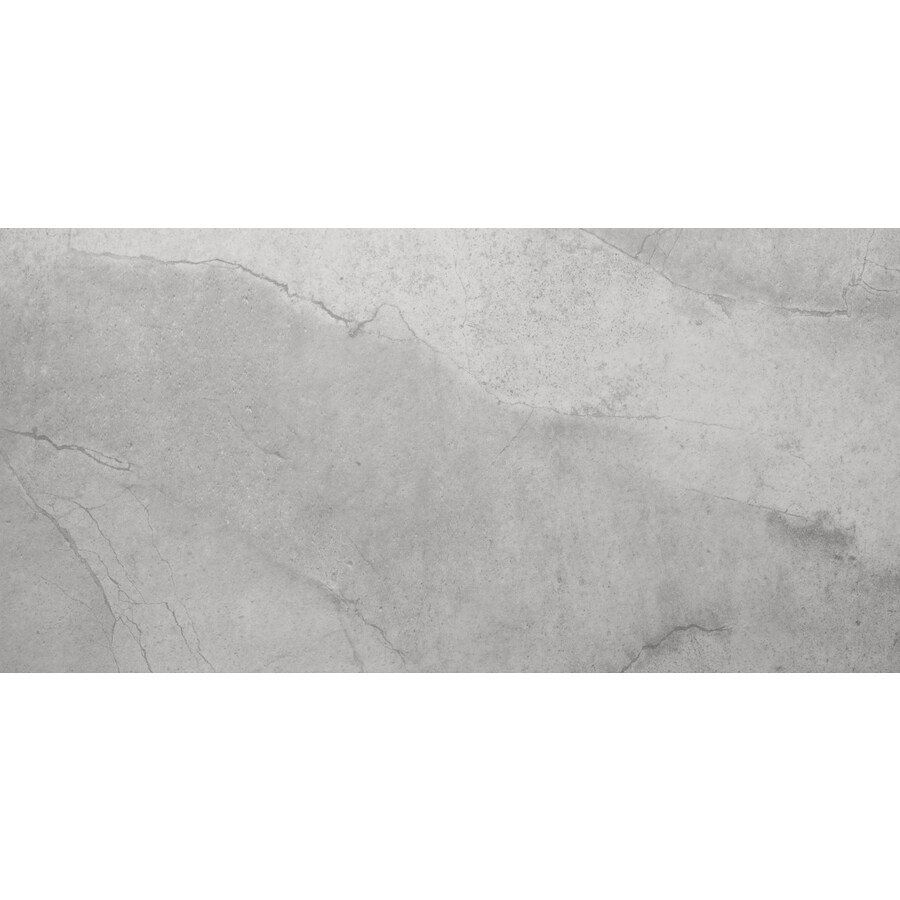 Emser St Moritz 6-Pack Silver Porcelain Floor and Wall Tile (Common: 12-in x 24-in; Actual: 11.75-in x 23.75-in)
