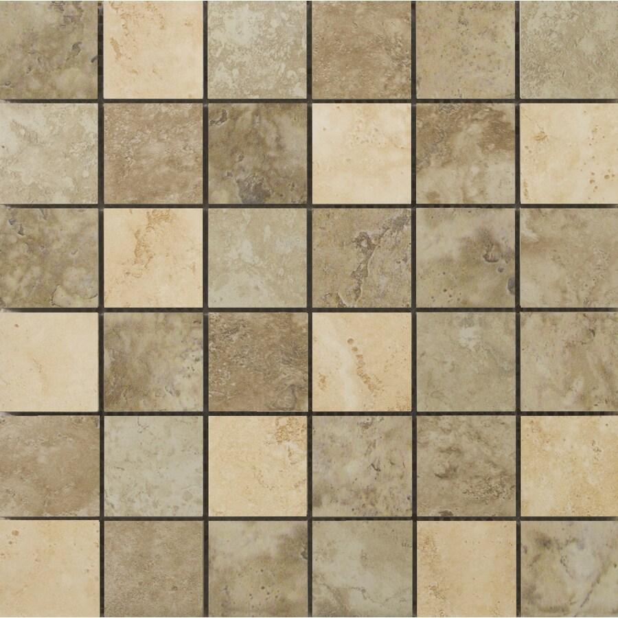 Shop Emser Lucerne Mosaic Blend Uniform Squares Mosaic Porcelain Thinset Mortar Floor And Wall
