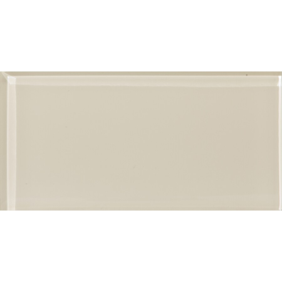 Emser 60-Pack Lucente Cream Glass Wall Tile (Common: 3-in x 6-in; Actual: 3.15-in x 6.43-in)