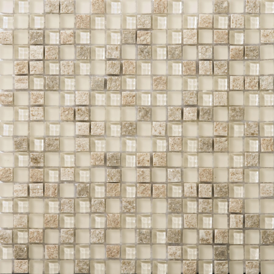 Emser Lucente Servolo Glass Mosaic Square Wall Tile (Common: 12-in x 12-in; Actual: 11.85-in x 11.85-in)