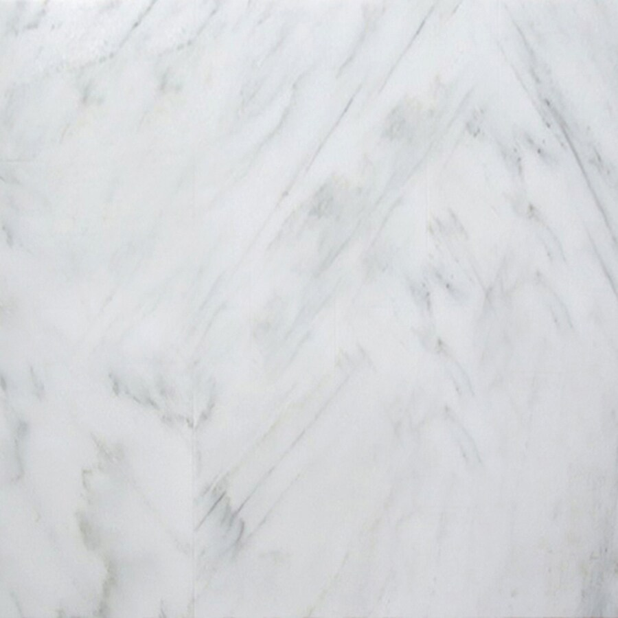 Shop emser 5 pack winter frost marble floor and wall tile for 18 x 18 marble floor tile