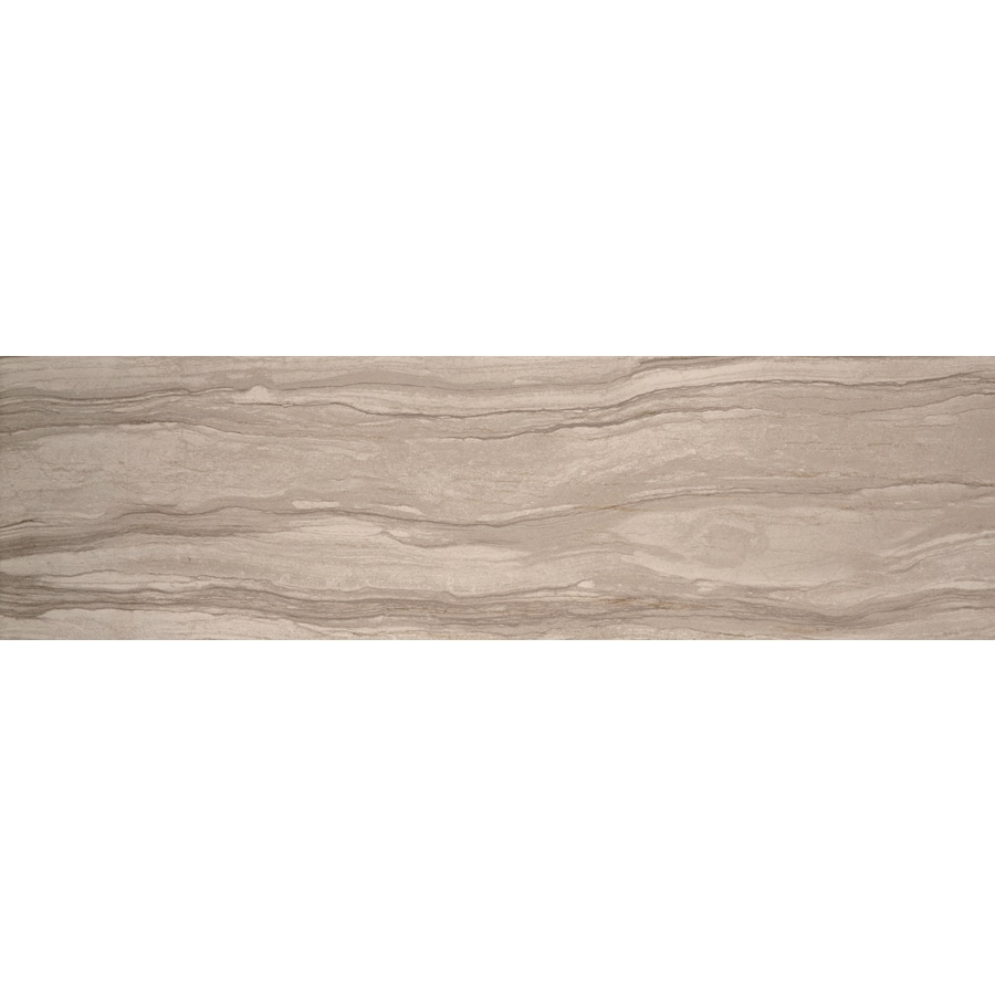 Emser Motion Gesture Thru Body Porcelain Bullnose Tile (Common: 3-in x 13-in; Actual: 3.15-in x 12.99-in)