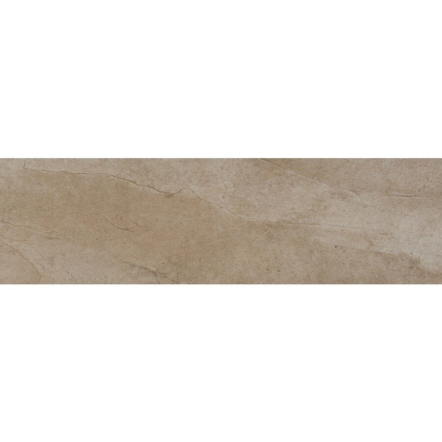 Emser St Moritz Cotton Porcelain Bullnose Tile (Common: 3-in x 12-in; Actual: 2.87-in x 11.77-in)
