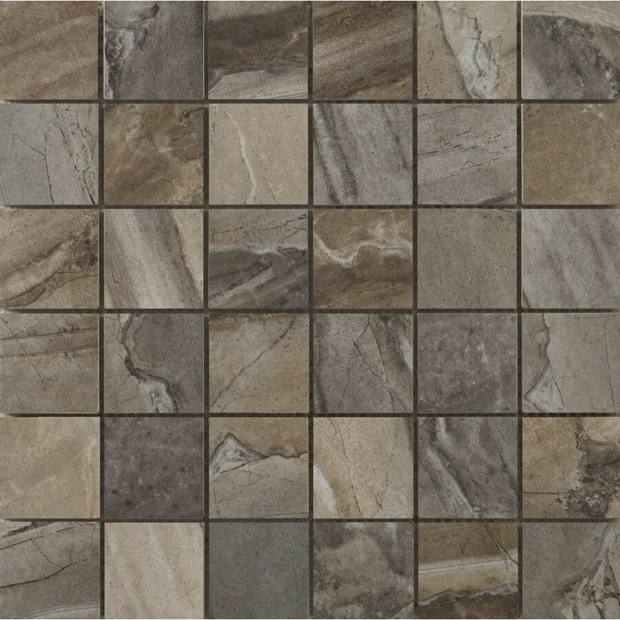 Shop Emser Eurasia 9 Pack Mosaic Blend Uniform Squares Mosaic Porcelain Floor Tile Common 13