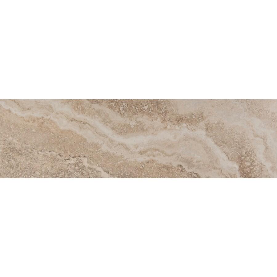 Emser Homestead Cream Porcelain Bullnose Tile (Common: 3-in x 13-in; Actual: 2.95-in x 12.99-in)