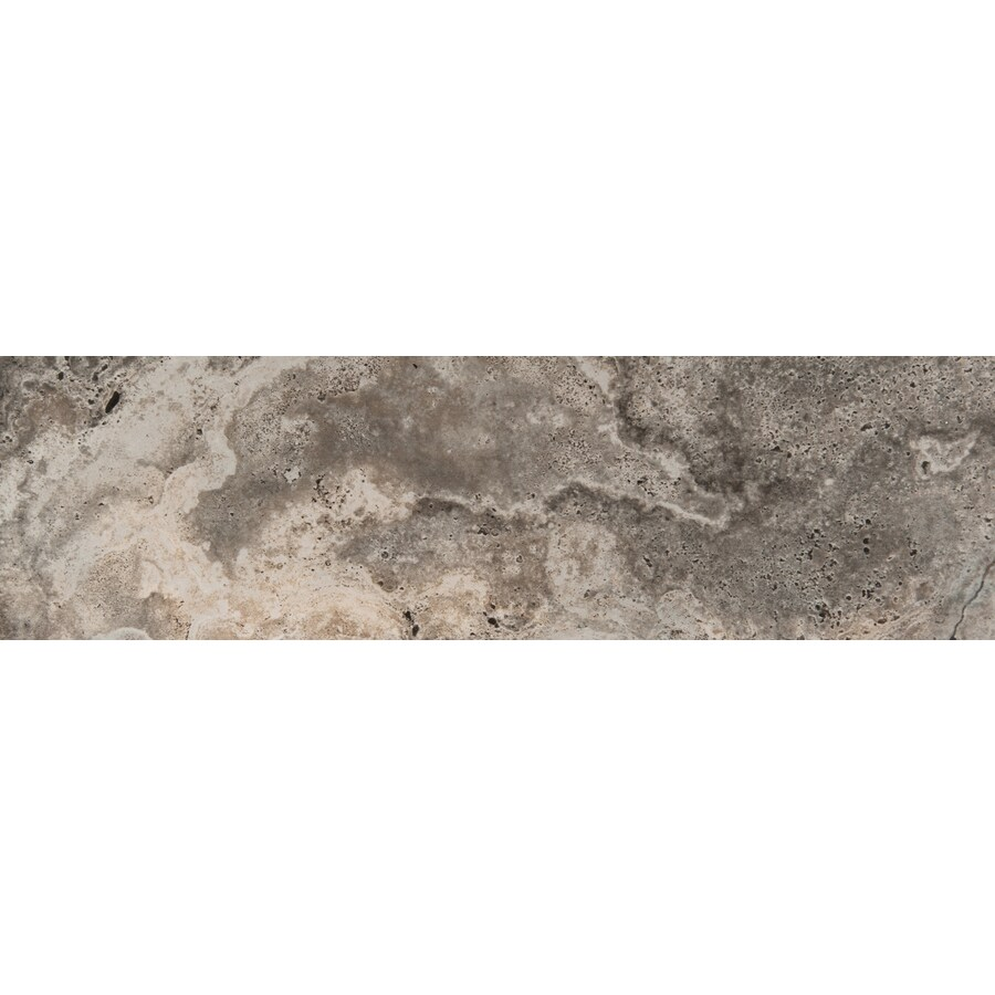 Emser Homestead Gray Porcelain Bullnose Tile (Common: 3-in x 13-in; Actual: 2.95-in x 12.99-in)
