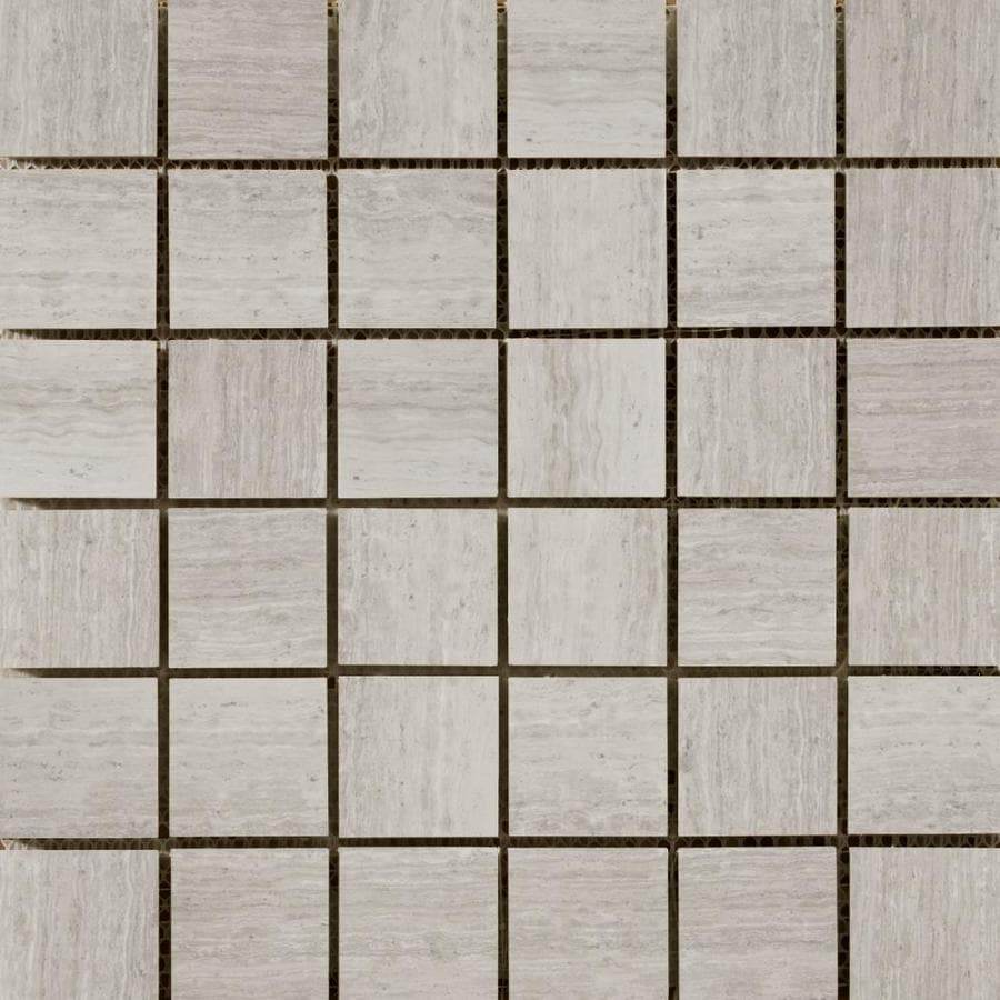 Emser Cream Uniform Squares Mosaic Marble Floor and Wall Tile (Common: 12-in x 12-in; Actual: 12.15-in x 12.12-in)