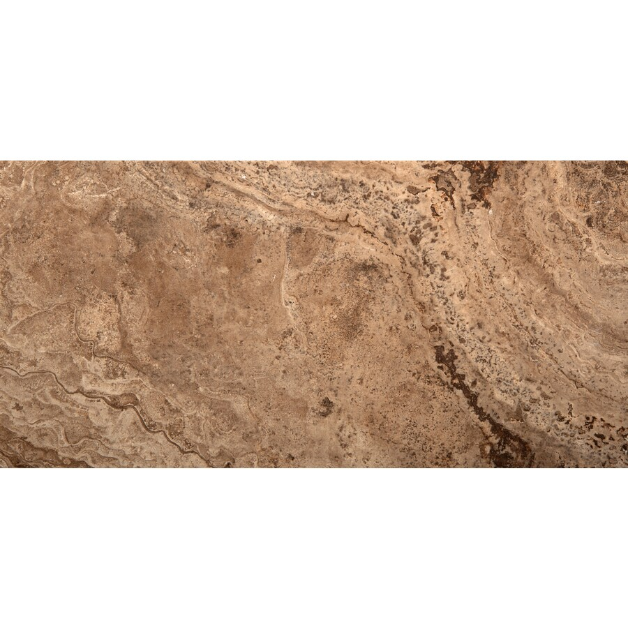 Emser Pergamo Noce Porcelain Floor and Wall Tile (Common: 3-in x 13-in; Actual: 13.11-in x 3.11-in)