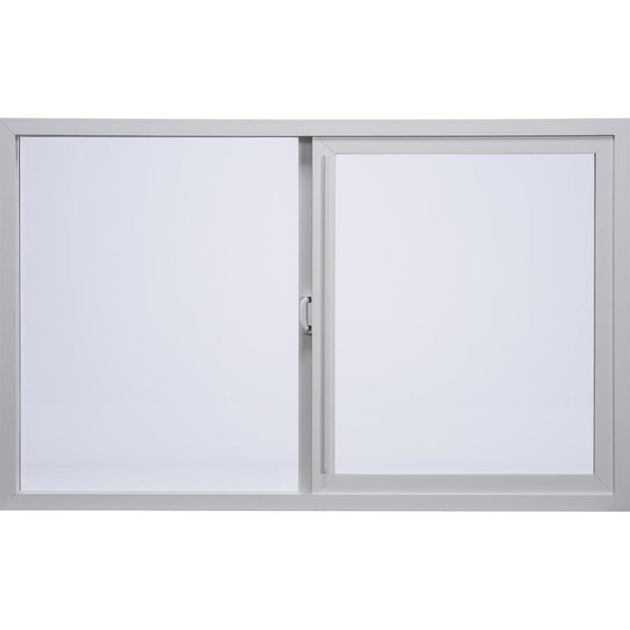 Milgard Style Line Left-Operable Vinyl Double Pane Single Strength New Construction Egress Sliding Window (Rough Opening: 60-in x 36-in; Actual: 59.5-in x 35.5-in)