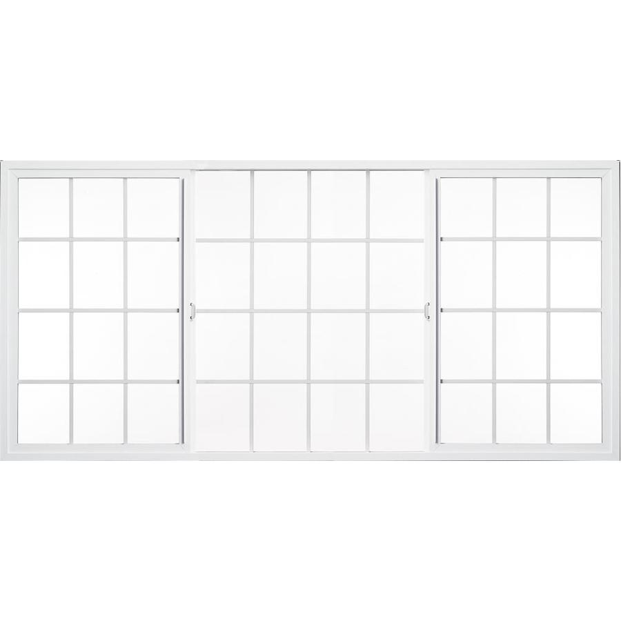 Milgard Style Line Both-Operable Vinyl Double Pane Single Strength New Construction Egress Sliding Window (Rough Opening: 96-in x 48-in; Actual: 95.5-in x 47.5-in)
