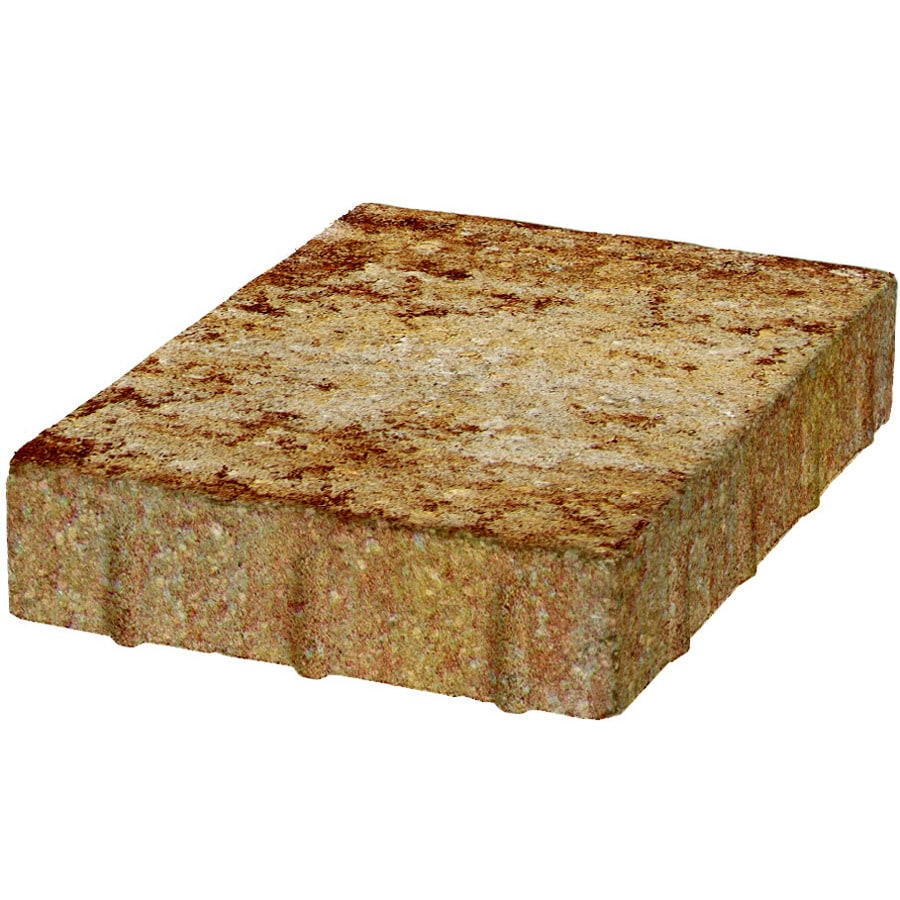 Keystone Sand Tan Rectangle Concrete Paver (Common: 9-in x 12-in; Actual: 8.438-in x 11.921-in)