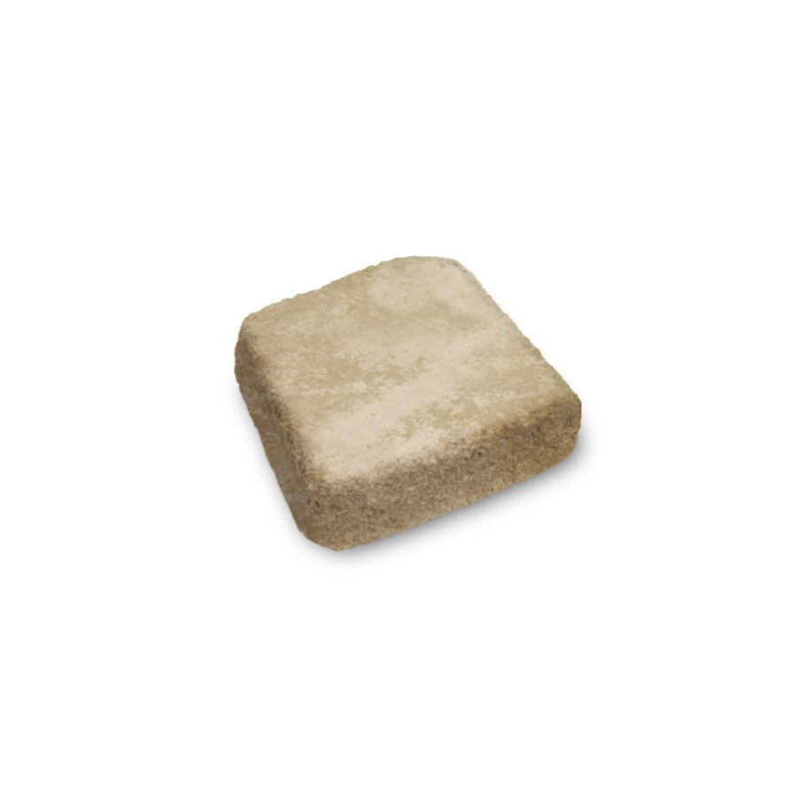Sand Tan Tumbled Concrete Retaining Wall Cap (Common: 12-in x 3-in; Actual: 12-in x 3-in)