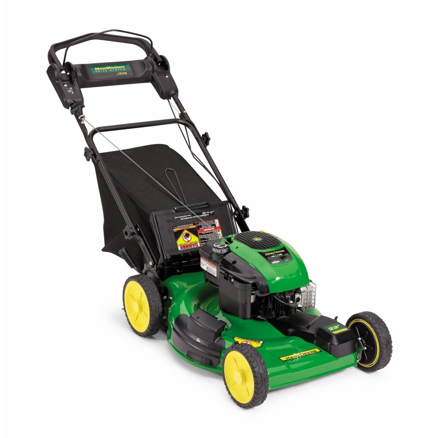 John Deere 190-cc 22-in Self-Propelled Front Wheel Drive 3 in 1 Gas Push Lawn Mower with Briggs & Stratton Engine