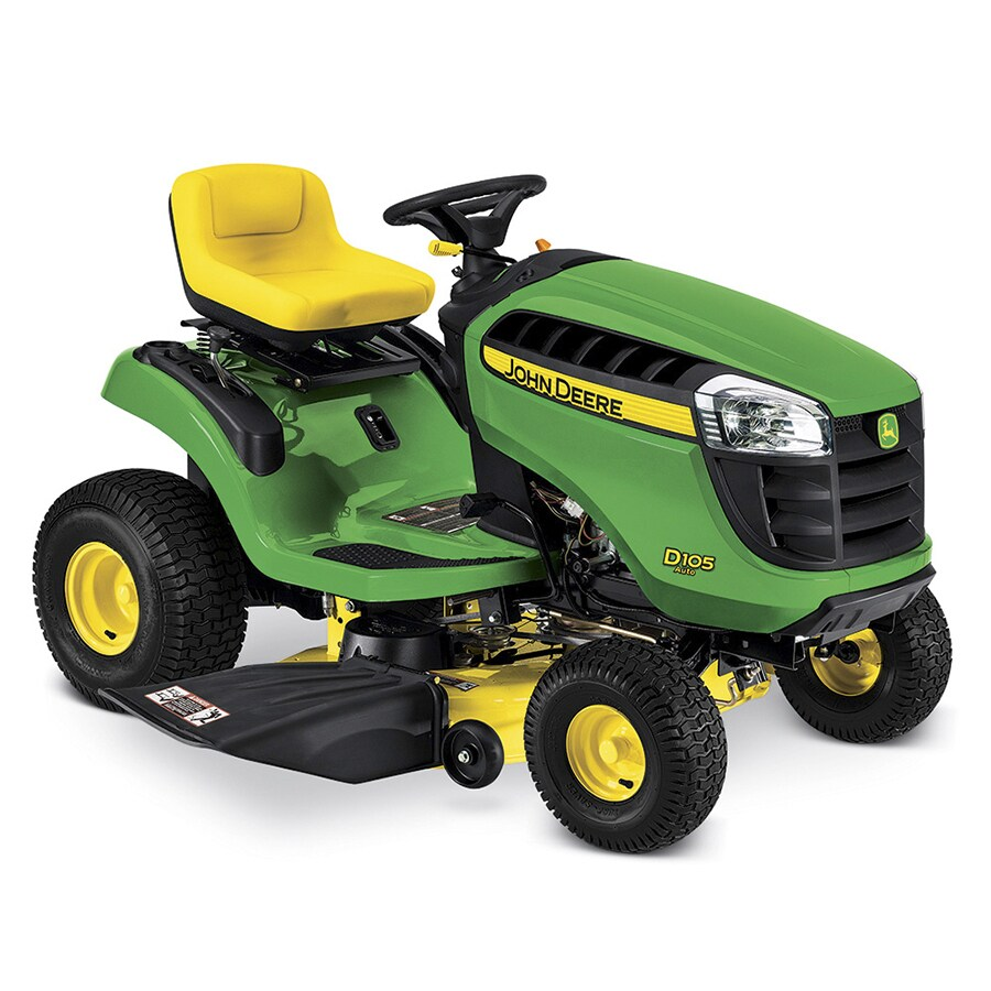 John Deere D105 17.5-Hp Automatic 42-in Riding Lawn Mower with Mulching Capability