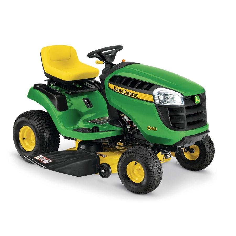 John Deere D110 19-Hp Hydrostatic 42-in Riding Lawn Mower with Mulching Capability