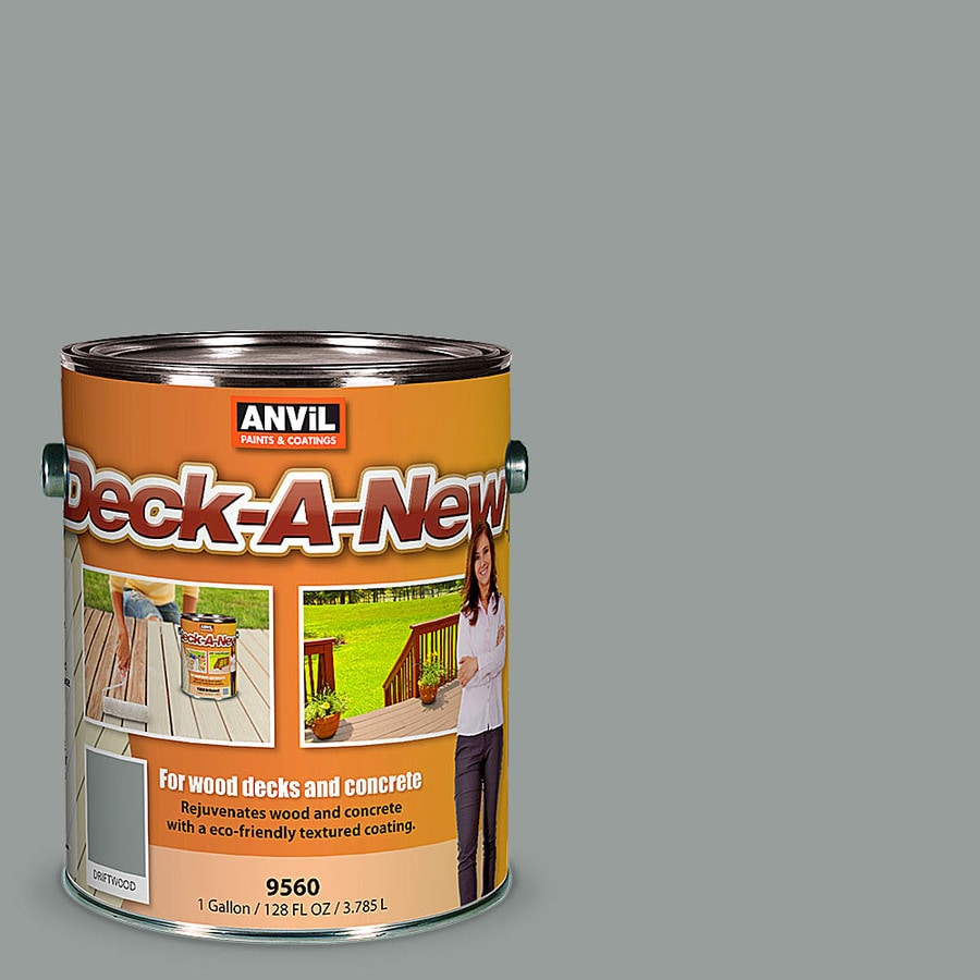 Anvil Paints Deck-A-New Pre-Tinted Driftwood Restoration Textured Solid Exterior Stain (Actual Net Contents: 128-fl oz)
