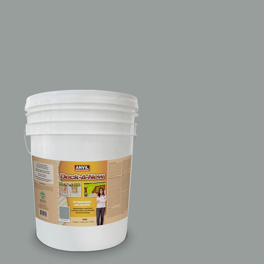 Anvil Paints Deck-A-New Pre-Tinted Driftwood Restoration Textured Solid Exterior Stain (Actual Net Contents: 640-fl oz)