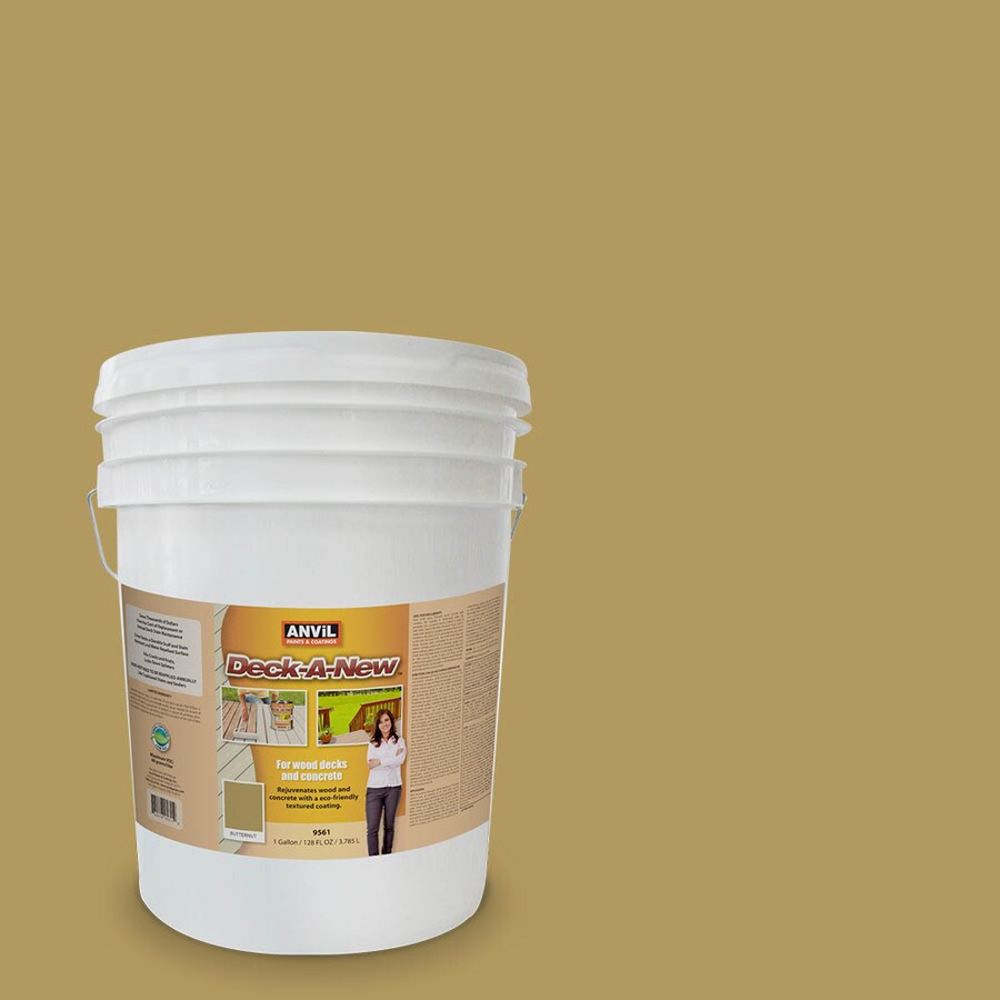 Anvil Paints Deck-A-New Pre-Tinted Butternut Restoration Textured Solid Exterior Stain (Actual Net Contents: 640-fl oz)