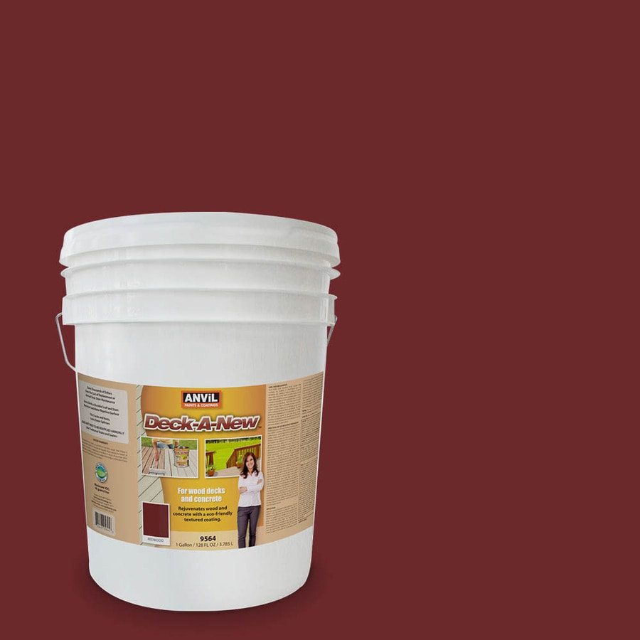 Anvil Paints Deck-A-New Pre-Tinted Redwood Restoration Textured Solid Exterior Stain (Actual Net Contents: 640-fl oz)