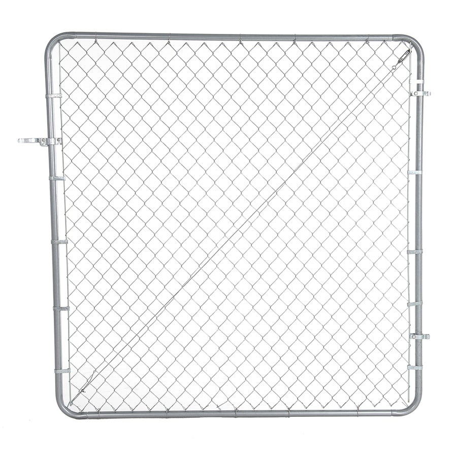 Fit Right Galvanized Steel Chain-Link Fence Walk-Thru Gate (Common: 6-ft x 6-ft; Actual: 6-ft x 6-ft)