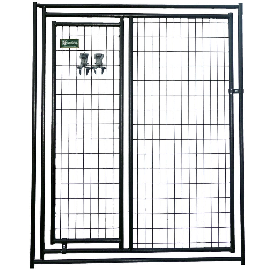 AKC 5-ft x 6-ft Outdoor Dog Kennel Gates
