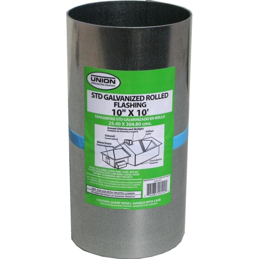 Union Corrugating 10-in x 10-ft Galvanized Steel Roll Flashing