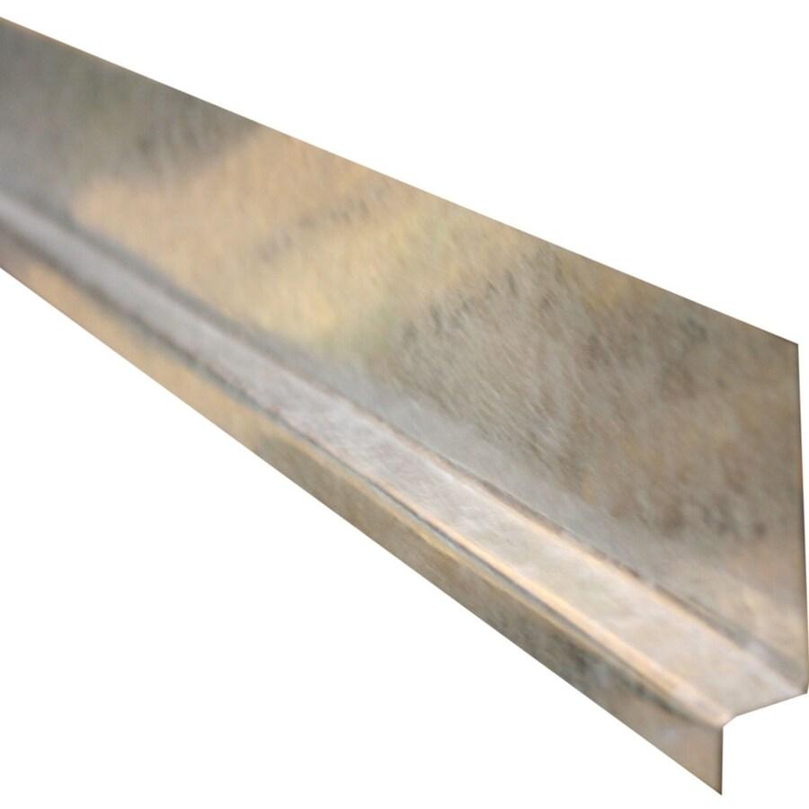 Union Corrugating 2-in x 0.63-in x 120-in Galvanized Steel Z Flashing