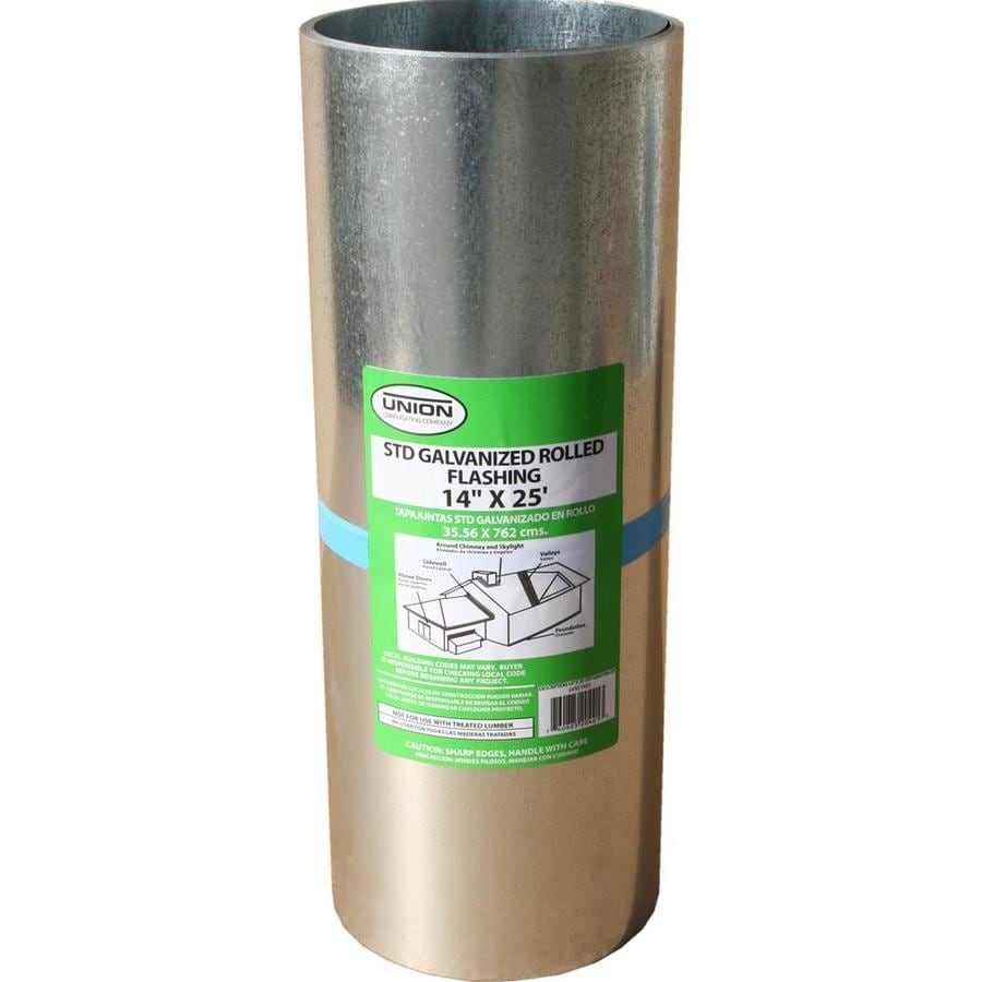 Union Corrugating 14-in x 25-ft Galvanized Steel Roll Flashing