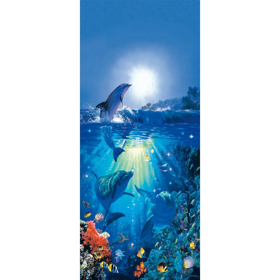 Shop brewster wallcovering ideal decor scenic mural at for Brewster wall mural