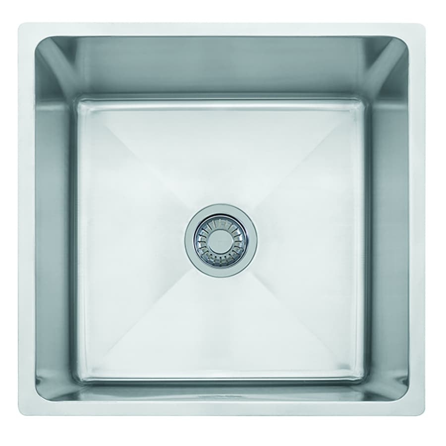Franke Professional 19.5-in x 20.5-in Stainless Steel Single-Basin Undermount Commercial Kitchen Sink