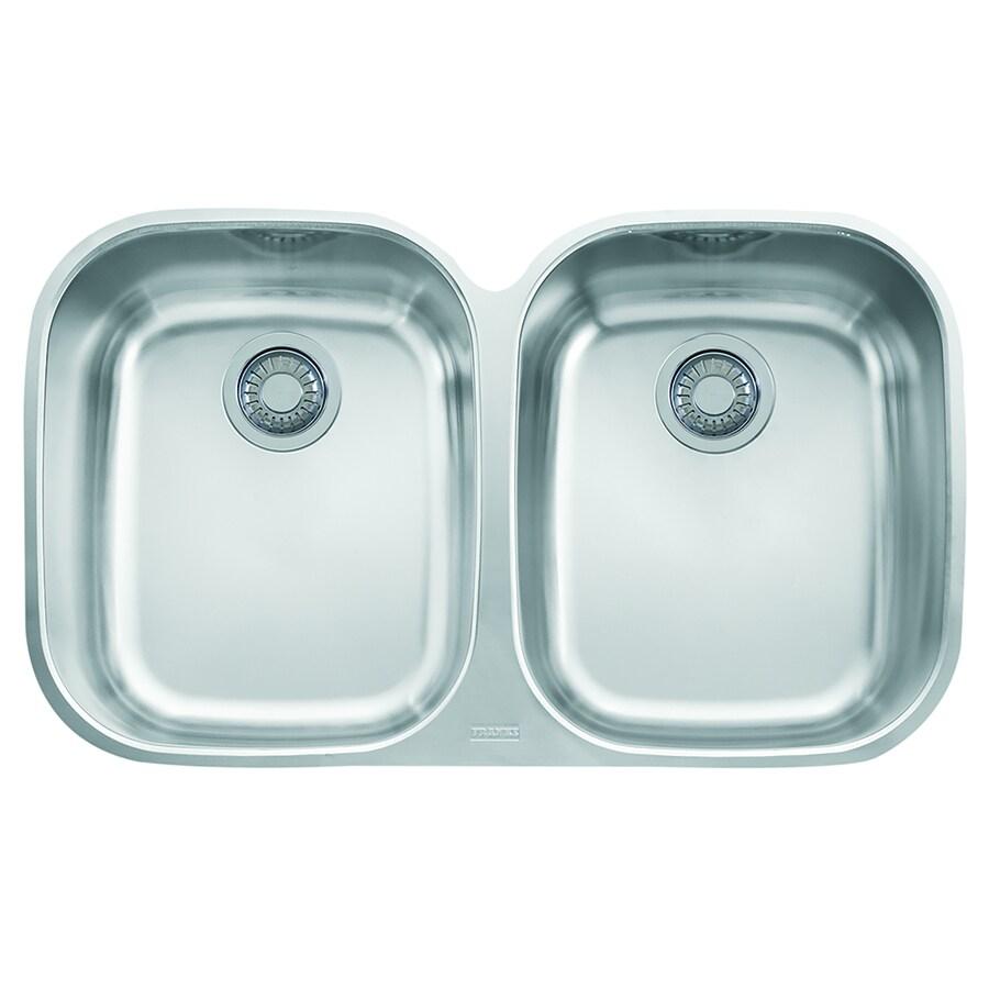 Shop Franke Regatta 20.5-in x 34.0625-in Stainless Steel Double-Basin ...