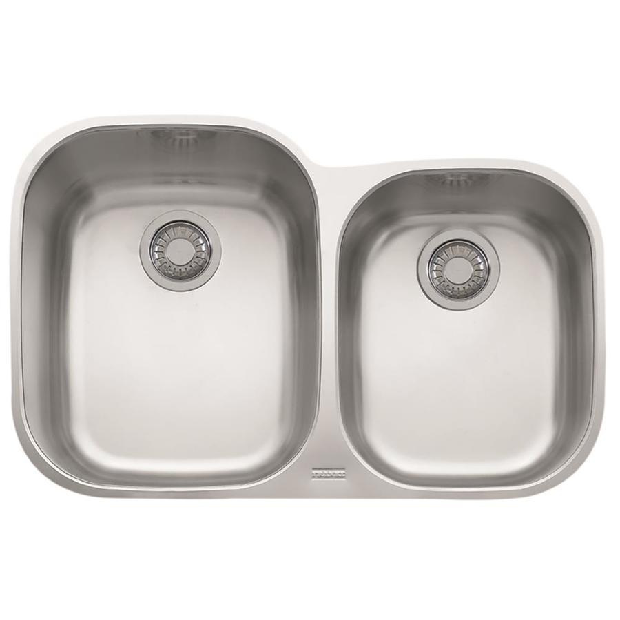 Franke Regatta 20.5-in x 31.5-in Stainless Steel Double-Basin Undermount Residential Kitchen Sink