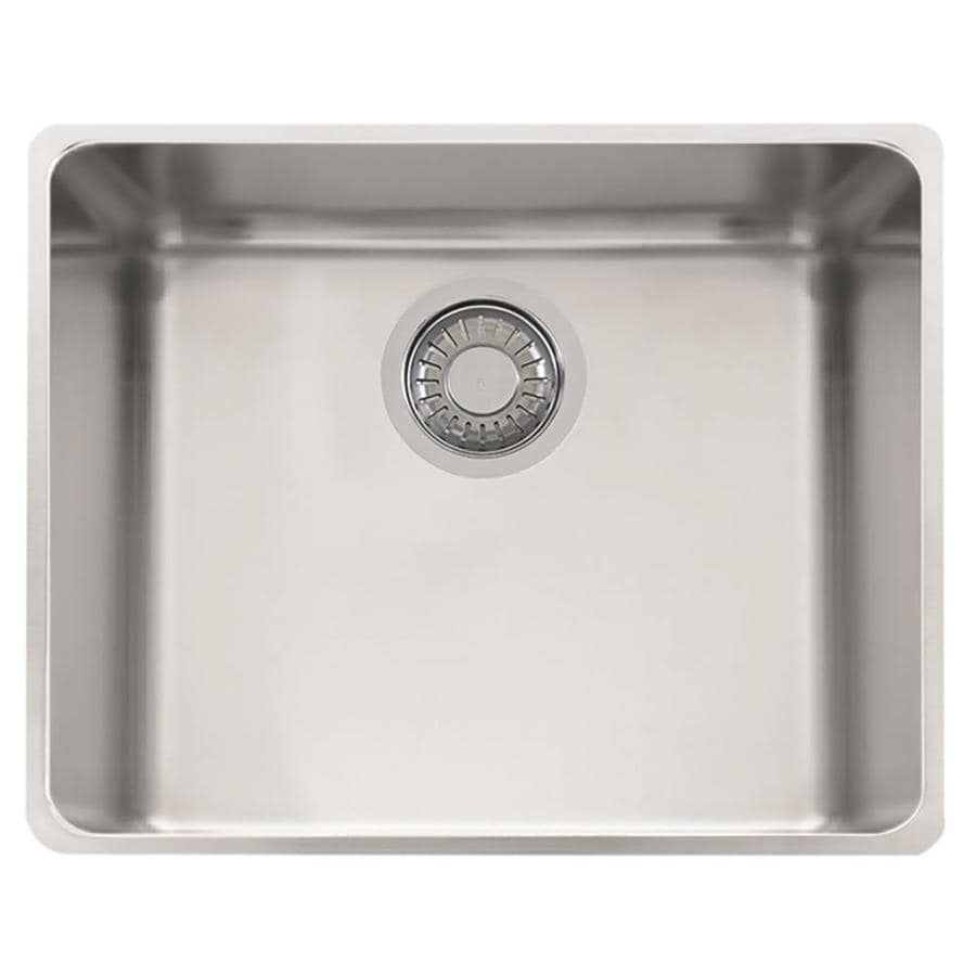 Franke Kubus 16.9375-in x 18.875-in Stainless Steel Single-Basin Undermount Residential Kitchen Sink