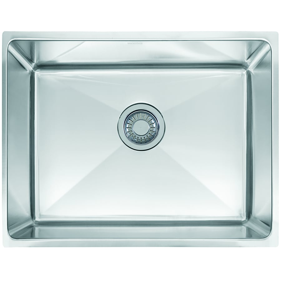 ... 375-in Stainless Steel Single-Basin Undermount Commercial Kitchen Sink