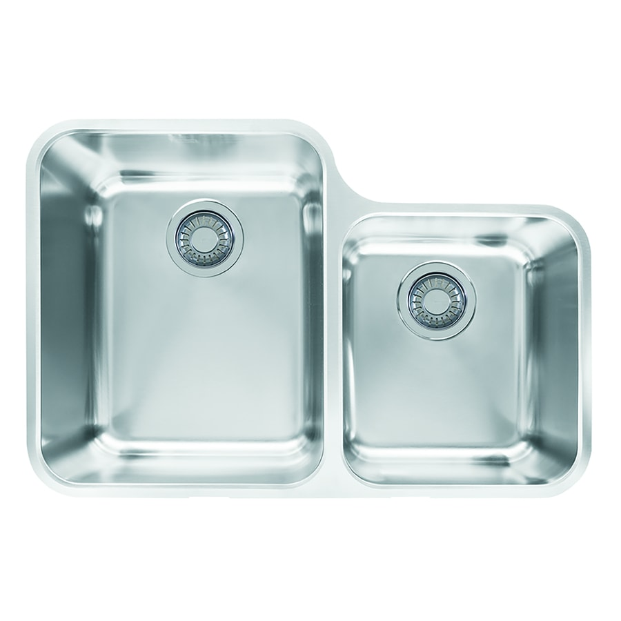 ... -in Stainless Steel Double-Basin Undermount Residential Kitchen Sink