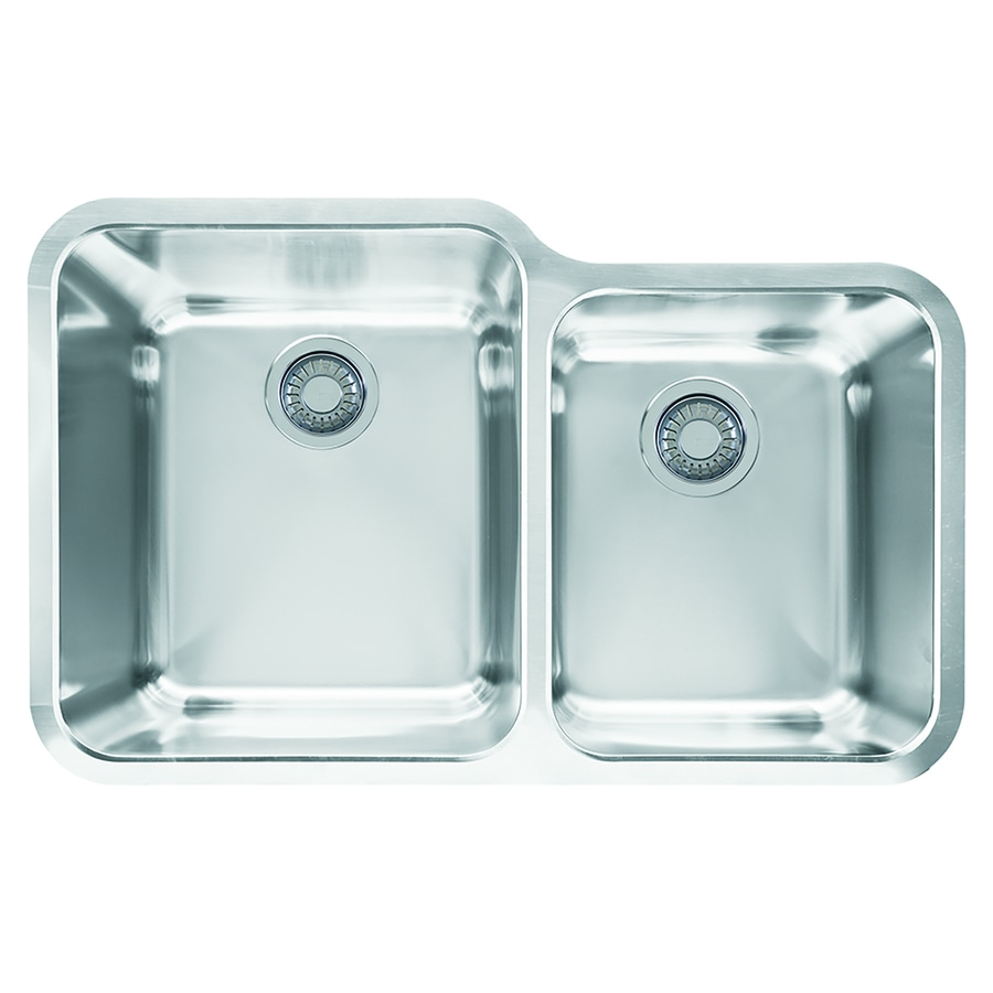 Franke Stainless Steel Sink : Shop Franke Largo 19.5-in x 30.875-in Stainless Steel Double-Basin ...