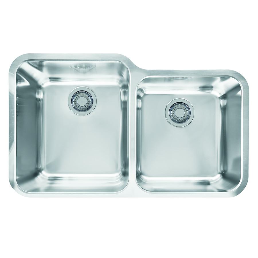 Franke Largo 19.5-in x 32.5-in Stainless Steel Double-Basin Undermount Residential Kitchen Sink