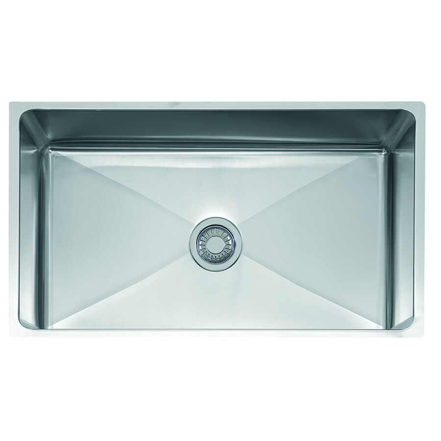 Franke Professional 19.625-in x 34-in Stainless Steel Single-Basin Undermount Commercial Kitchen Sink